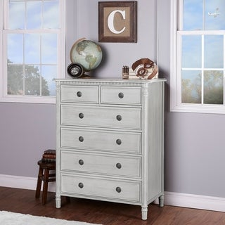 Evolur Julienne Grey Wood 6-drawer Dresser