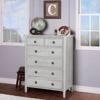 Evolur Julienne Grey Wood 6-drawer Dresser