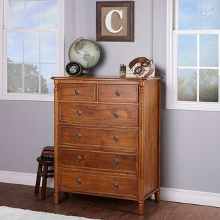 Evolur Julienne Natural Wood 6-drawer Dresser Chest