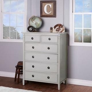 Evolur Julienne Off-white Wood 6-drawer Chest