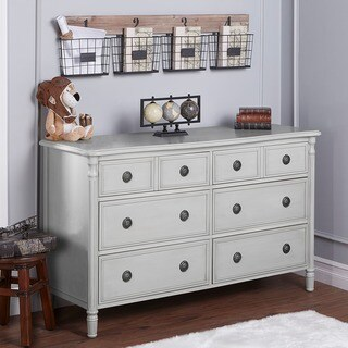 Evolur Julienne Dove Grey 6-drawer Double Dresser