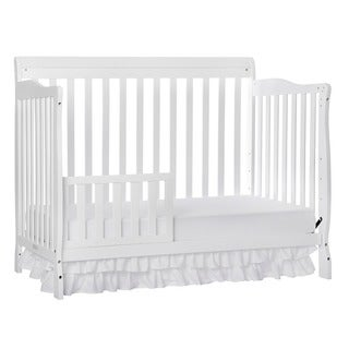 Dream On Me White Wood Universal Convertible Crib Toddler Guard Rail