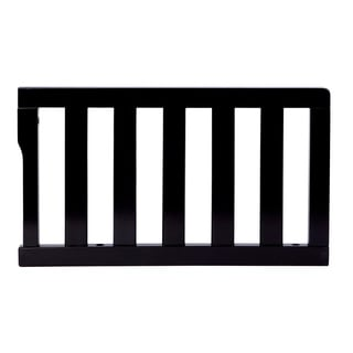 Dream On Me Black Wooden Universal Convertible Crib Toddler Guard Rail