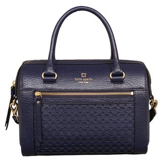 Kate Spade Perri Lane Bubbles Delaney French Navy Satchel Handbag