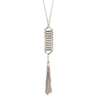 Silver Necklace Tassel Pendant