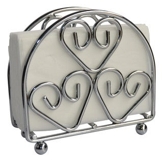 Wee's Beyond Silver Chrome Heart Napkin Stand