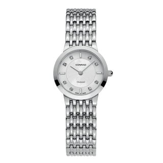 Conrad Stainless Steel/Sapphire Glass Diamond Accent Women's Watch