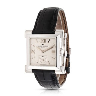 Pre-Owned Vacheron Constantin Carpe Historique 91030/000G Mens Watch in 18K White Gold