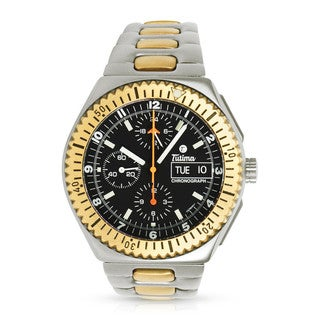 Pre-Owned Tutima Military Chronograph 738 Automatic Men's Watch in Titanium/18K Yellow Gold