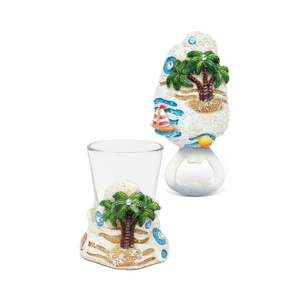 Home Decor Value Pack Palm Tree Resin Stone collection - Set of 2