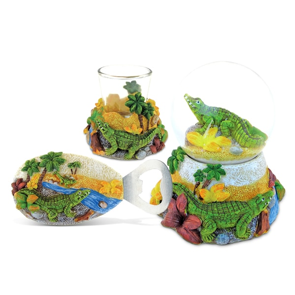 Home Decor Value Pack Alligator Resin Stone collection - Set of 3