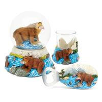 Home Decor Value Pack Grizzly Bear Resin Stone collection - Set of 3