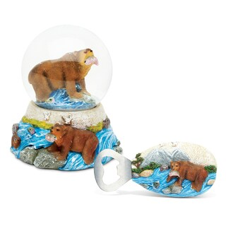 Home Decor Value Pack Grizzly Bear Resin Stone collection - Set of 2