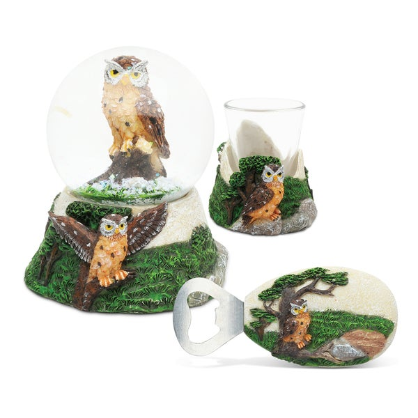 Home Decor Value Pack Owl Resin Stone collection - Set of 3