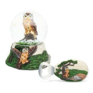 Home Decor Value Pack Owl Resin Stone collection - Set of 2