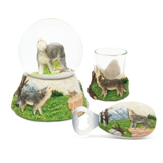 Home Decor Value Pack Wolf Resin Stone collection - Set of 3