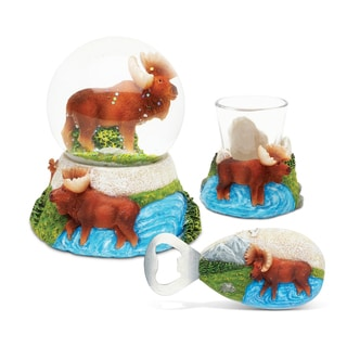 Home Decor Value Pack Moose Resin Stone collection - Set of 3