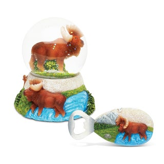 Home Decor Value Pack Moose Resin Stone collection - Set of 2