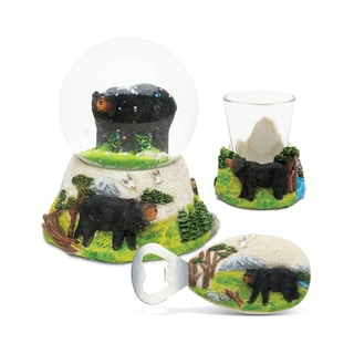 Home Decor Value Pack Black Bear Resin Stone collection - Set of 3