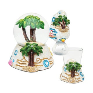 Home Decor Value Pack Palm Tree Resin Stone collection - Set of 3