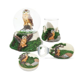 Home Decor Value Pack Owl Resin Stone collection - Set of 4
