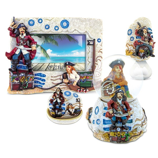 Home Decor Value Pack Mermaid Pirate Stone collection - Set of 4