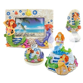 Home Decor Value Pack Mermaid Resin Stone collection - Set of 4