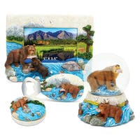 Home Decor Value Pack Grizzly Bear Resin Stone collection - Set of 4