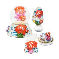 Home Decor Value Pack Fish Resin Stone collection - Set of 4