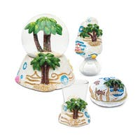 Home Decor Value Pack Palm Tree Resin Stone collection - Set of 4