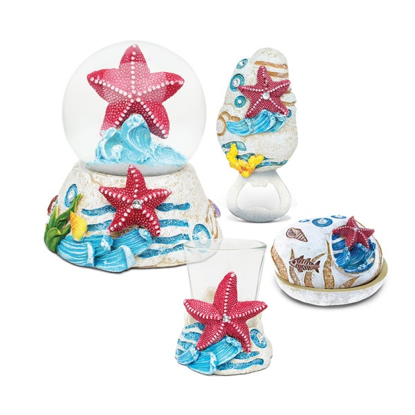 Home Decor Value Pack Starfish Resin Stone collection - Set of 4