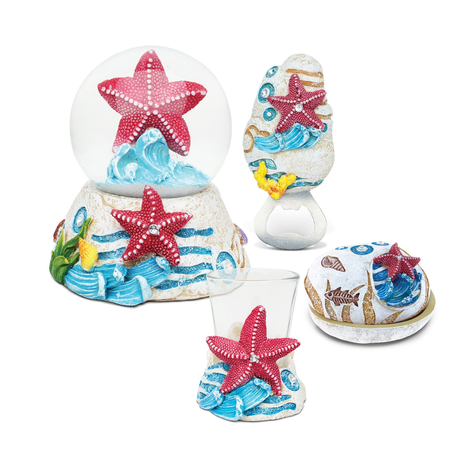 Puzzled Home Decor Value Pack Starfish Resin Stone collec...