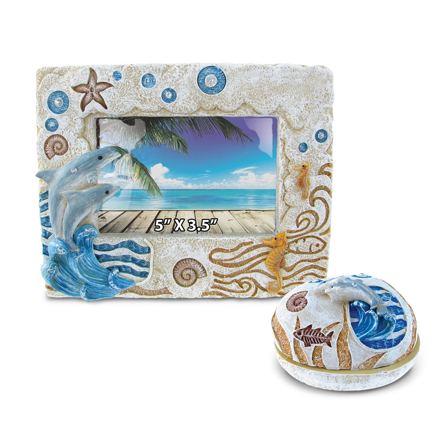 Puzzled Home Decor Value Pack Dolphin Resin Stone collect...