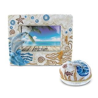 Home Decor Value Pack Dolphin Resin Stone collection - Set of 2