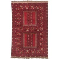 eCarpetGallery Finest Khal Mohammadi Red Wool Hand-knotted Rug (5'1 x 7'6)