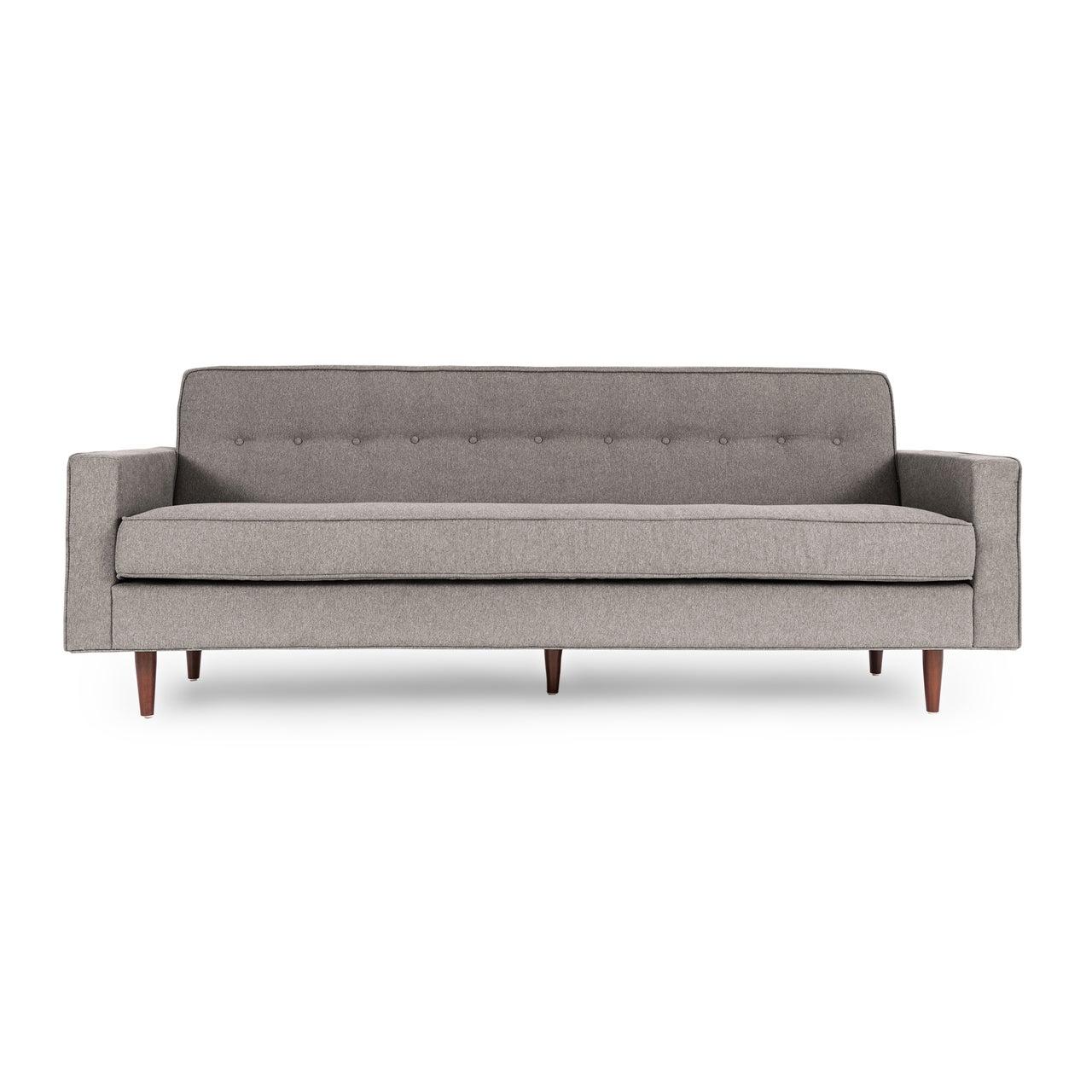 Kardiel Eleanor Earl Grey Velour Mid-century Modern Retro Classic Sofa