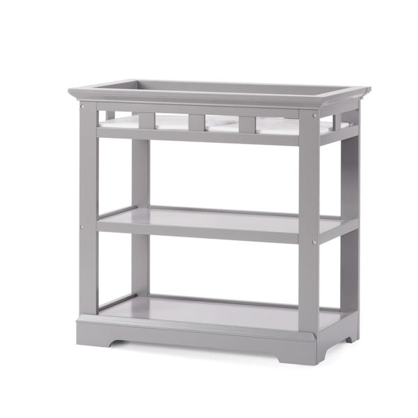 Child craft kayden cool gray wood dressing table free for Child craft changing table