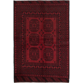 eCarpetGallery Hand-Knotted Khal Mohammadi Red Wool Rug (5'4 x 7'8)