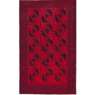 eCarpetGallery Khal Mohammadi Red Hand-knotted Wool Rug (7'7 x 12'7)