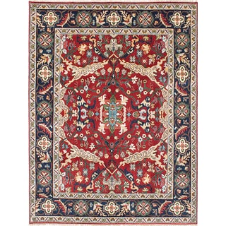 eCarpetGallery Blue/Red Wool Hand-knotted Serapi Heritage Area Rug (7'8 x 10'2)