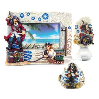 Home Decor Value Pack Mermaid Pirate Stone collection - Set of 3