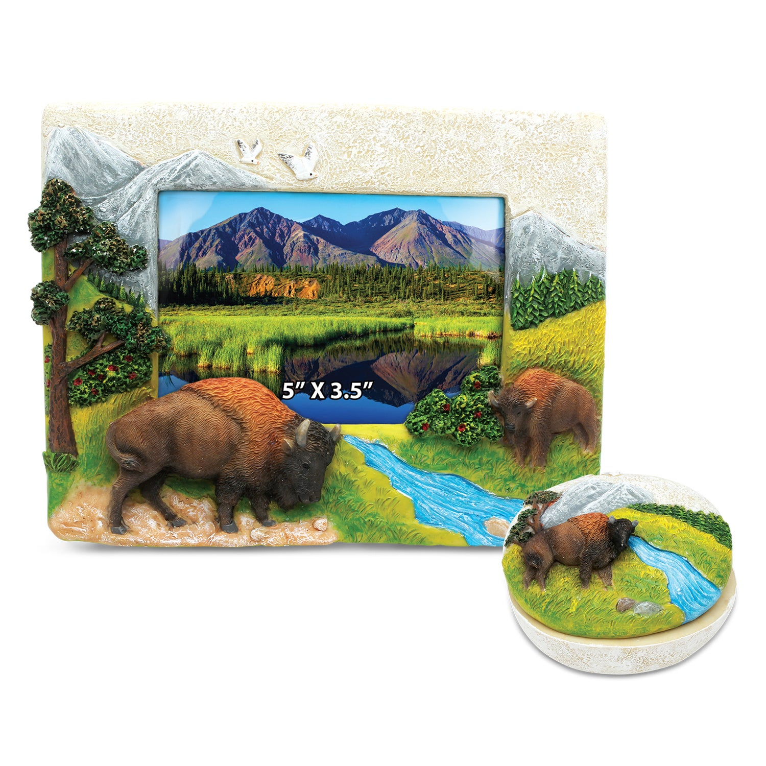 Puzzled Home Decor Value Pack Buffalo Resin Stone collect...