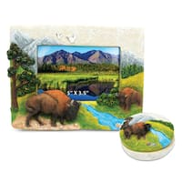 Home Decor Value Pack Buffalo Resin Stone collection - Set of 2