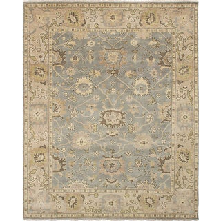 eCarpetGallery Royal Ushak Blue Wool Hand-knotted Rug (8'0 x 9'11)