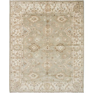 eCarpetGallery Royal Ushak Green Wool and Cotton Hand-knotted Area Rug (8'1 x 10'2)