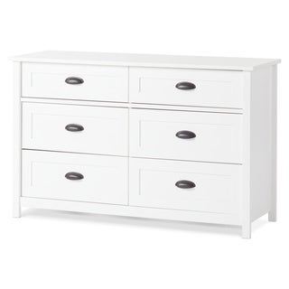 Child Craft Abbott Matte White Ready to Assemble Double Dresser