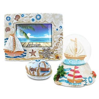 Home Decor Value Pack Boat Resin Stone collection - Set of 3