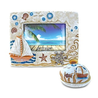 Home Decor Value Pack Boat Resin Stone collection - Set of 2