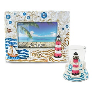 Home Decor Value Pack Lighthouse Resin Stone collection - Set of 2