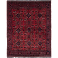 eCarpetGallery Finest Khal Mohammadi Red Wool Hand-Knotted Rug (5'8 x 7'1)